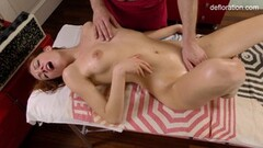 Naughty Amy Ledenez Massage for the first time Thumb