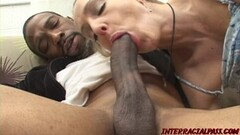Cute Naughty MILF eaten out and smashed by BBC interracial Thumb