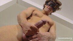 Sexy Long Haired Jock Jerks His Uncut Cock Thumb