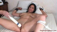 Naughty Cameraman Assisted Restrained Intense Wet Orgasms Thumb
