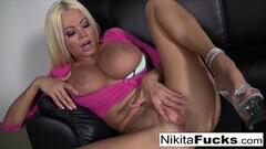 Kinky Vibrator gets to play inside Nikita Thumb