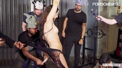 FORBONDAGE - Russian Babe Disciplined By Horny Group Thumb