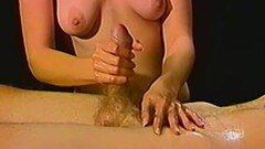 Cute Petite amateur blonde gives a massage then a handjob Thumb