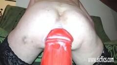 XXXL Anal fisting and gigantic dildo fucking Thumb