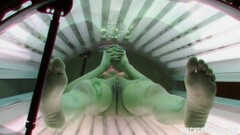 Voyeur Has Hidden Cam in Public Solarium Thumb