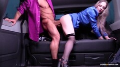 FUCKED IN TRAFFIC - Back seat sex with British Carly Rae Thumb
