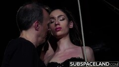 Naughty Arwen Gold BDSM session with sex toys and leather whip Thumb