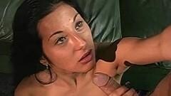 Exotic Brunette MILF JerkTime For Lucky Horny Cock Thumb