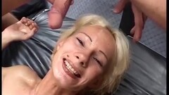Shorthaired german tattooed Milfs first gangbang Thumb