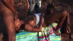 Outdoor African safari orgy fuck Thumb