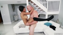 Beautiful ebony Brittany White loves massive cock Thumb