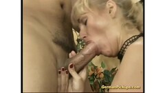 Blonde amateur drools over this hard cock Thumb