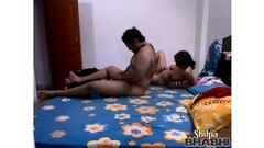 Latina riding boyfreind on couch Thumb