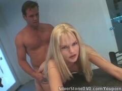 Bored camera girl gives handjob to a model Thumb