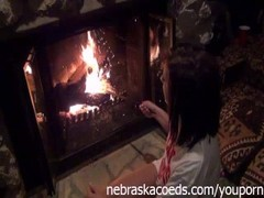 Teen Gaping and Masturbating Next to My Fireplace Thumb