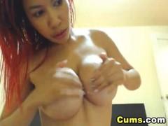Busty Babe Double Penetration Dildo HD Thumb