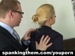 Lesson of obedience for blonde lady Thumb