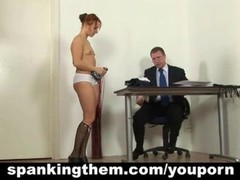 College babe spanked by principal Thumb
