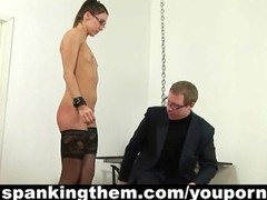 Spanked secretary babe Thumb