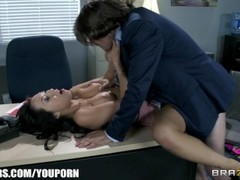 Office assistant Asa Akira shows her boss her flexibility Thumb