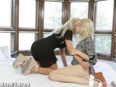 Hot Mistress Gives Pantyjob To Tied Up Slave Thumb