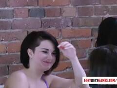 Red Satin handjob Thumb