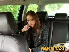 FakeTaxi Hungarian brunette takes on big thick cock Thumb