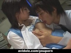 Hot Japanese secretary pounded by her boss Uncensored Thumb
