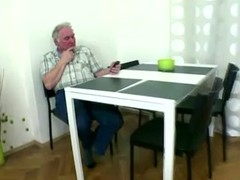 Naughty czech girl fucks with old man as soon as boyfriend leaves Thumb