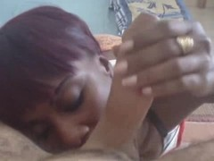 African Teen suck white cock and get her mouth full of cum! Thumb