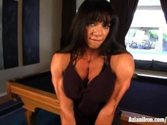 Aziani Iron female bodybuilder Marina Lopez nude Thumb