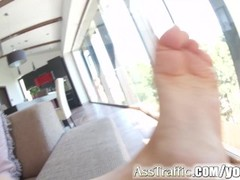 Ass Traffic first porn video ever interview with anal Thumb