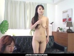Saya Fujimoto, brunette bitch, wants to fuck hard Thumb