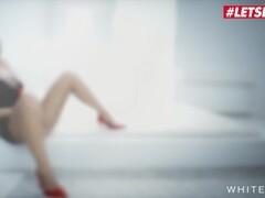 Fake Cop Ebony stripper rides the policemans helmet Thumb