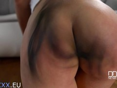 Kayla Green and Mona Kim Hungarian Dominatrix Spanking Thumb