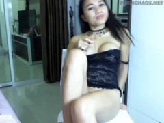 Sexy asian from pornchaos.net play with ohmibod on webcam Thumb