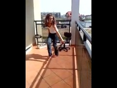 Polish teen strip on balcony Thumb