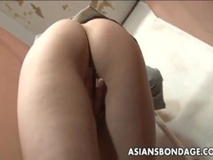 Slutty asian nerd has a fingering session in the toilet Thumb