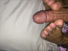 Footjob Compilation-Cumshot Compilation Pink Blue Toes Fiance Feet Thumb