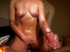 Blonde and brunette ring wrestling sex Thumb