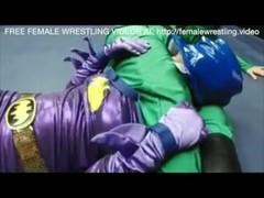 Riddler vs BatGirl Lesbian Wrestling Sex Thumb