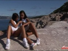Norwegian college girls outdoor lesbian fun Thumb