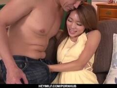 Subtitles - Japanese teen Maomi Nagasawa sucked dick and pumped hard Thumb