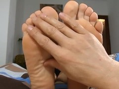 Auntie Giving a Footjob Thumb