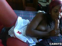 Ebony nurse wants to cure your cock with her phat ass Thumb
