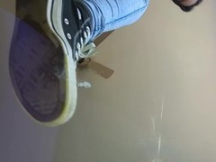Stmomping on my spittles with Converse Thumb