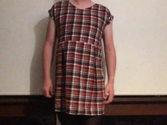 Plaid chiffon and satin Thumb