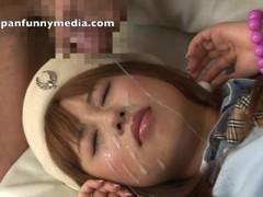 Japanese girls bukkake facial blowjob cumshot compilation 5 Thumb