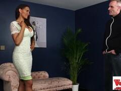 FakeAgentUK Busty British porn model in casting Thumb