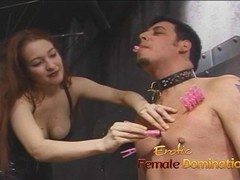 Two mistresses team up and dominate Felix in the dungeon Thumb